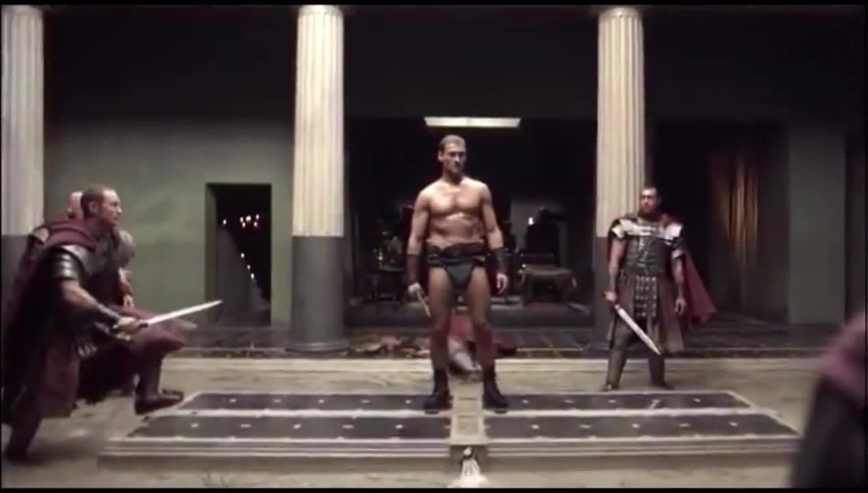 #经典看电影#斯巴达克单挑罗马将军十大贴身护卫