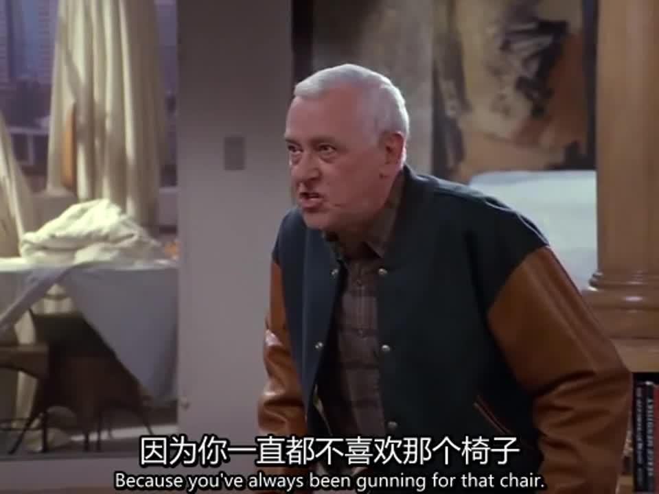 俩男子在房间争吵,老爸生气的责骂儿子,儿子也不甘示弱