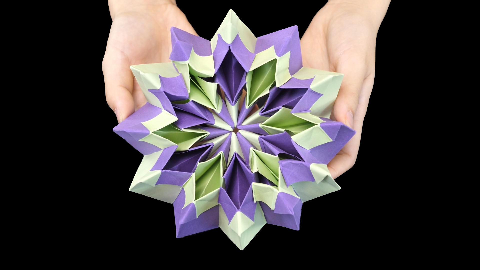 #无限翻转的烟花折纸#这种可以无限翻转的烟花折纸,很多人见过但不会折,其实非常简单