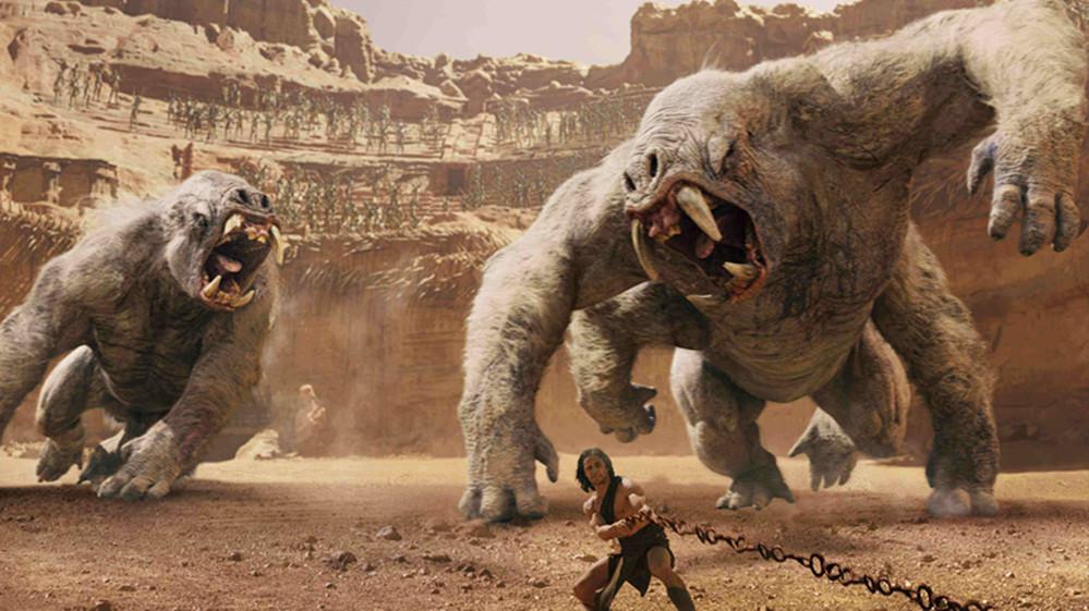 #经典看电影#穷小伙穿越到了火星,拥有力大无穷的能力,激战两只白熊!