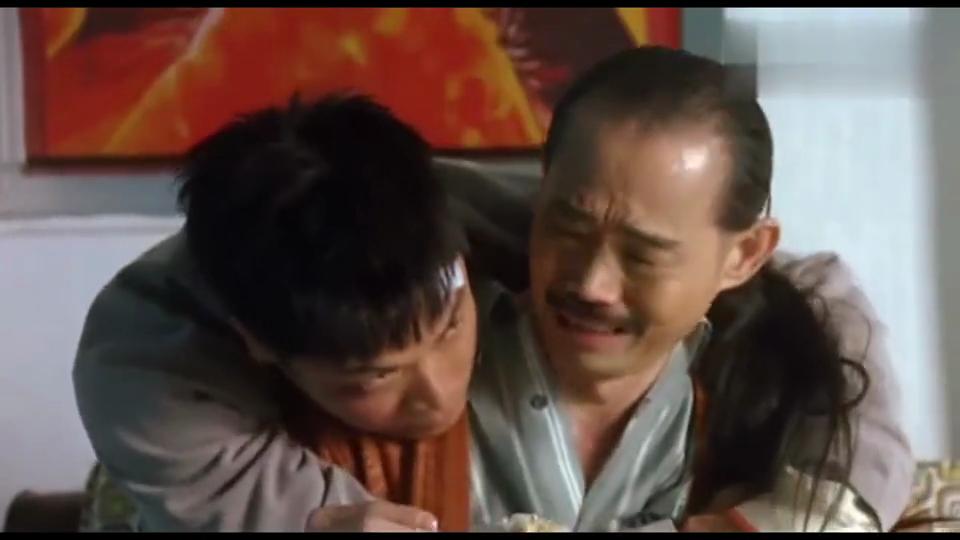 #电影迷的修养#《雀圣》郭晋安被王晶打傻,喷元华一脸米饭!