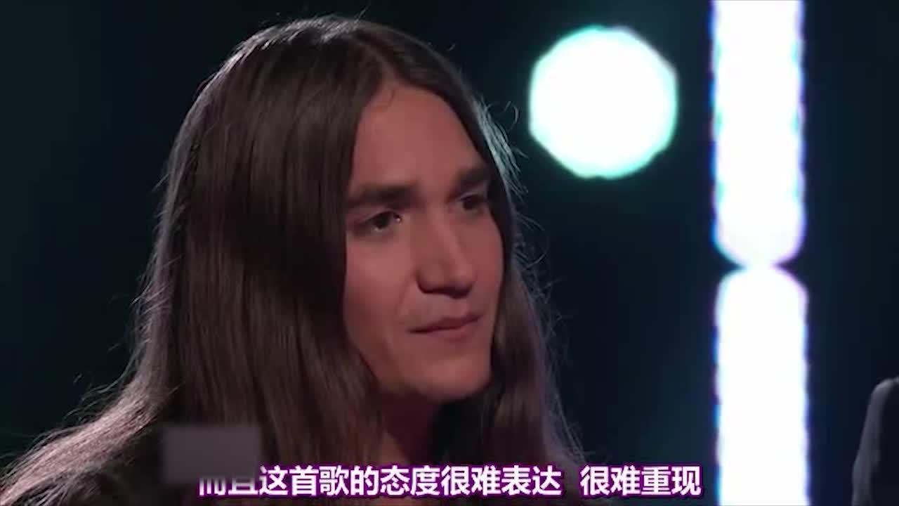 导师说他很喜欢他的声音,他很好的表达了这首歌的态度