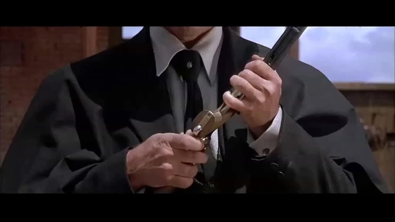 经典老电影,镖客与赏金猎人之间的经典枪战