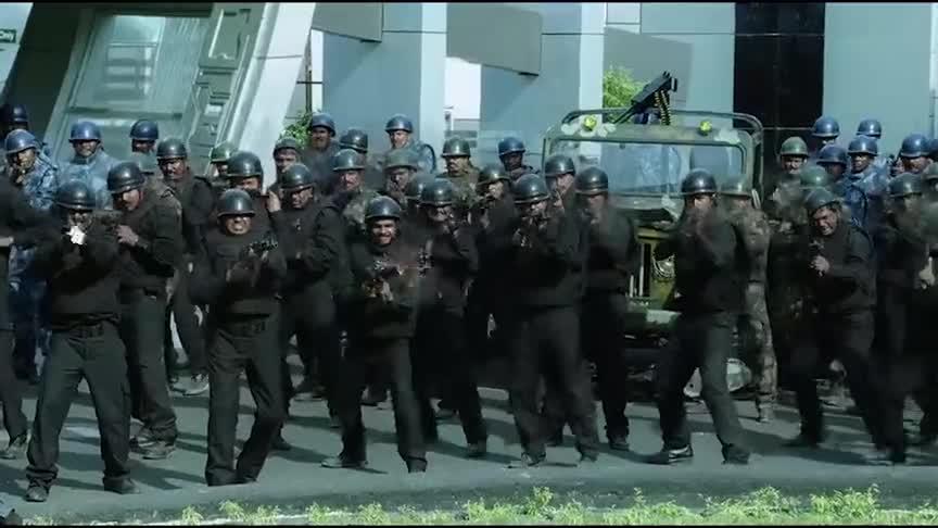 #电影片段#机械军团,组合无敌!