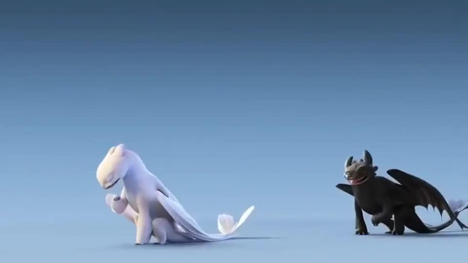 《驯龙高手3》超萌短片,这两只龙仔可真是可爱啊