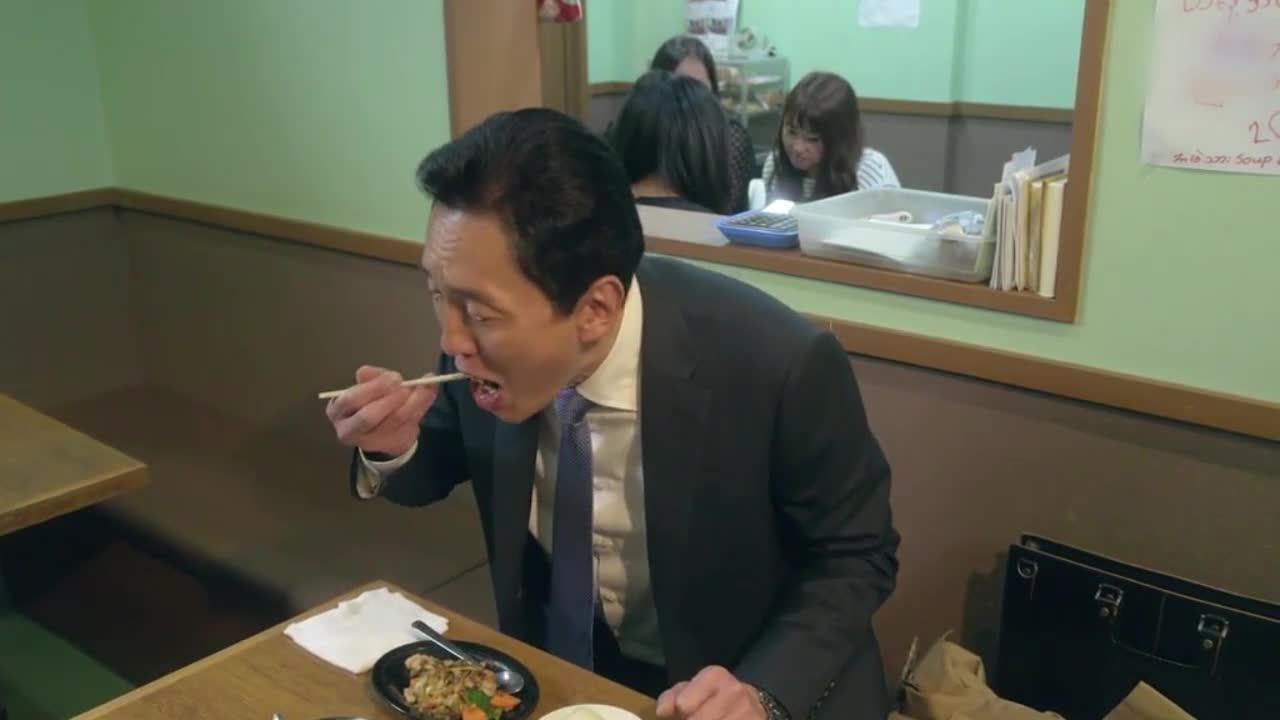 井之头五郎美食家,尝试糯米饭配大芥菜