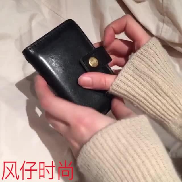 #2018春运#风仔时尚小小的钱包,里面各式各样可以放硬币不会掉