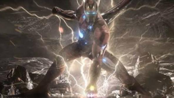 #复仇者联盟4#《复联4》概念海报,钢铁侠战甲升级,与惊奇队长配合战灭霸