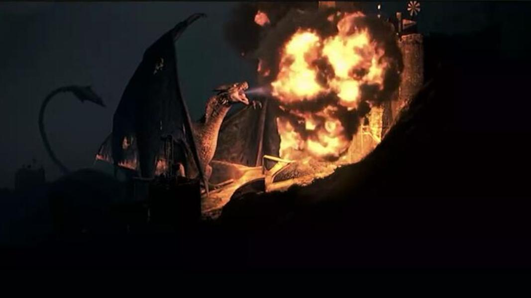 #经典看电影#千年巨龙被一名矿工吵醒,不仅毁坏了城市,还拥有了一群手下!