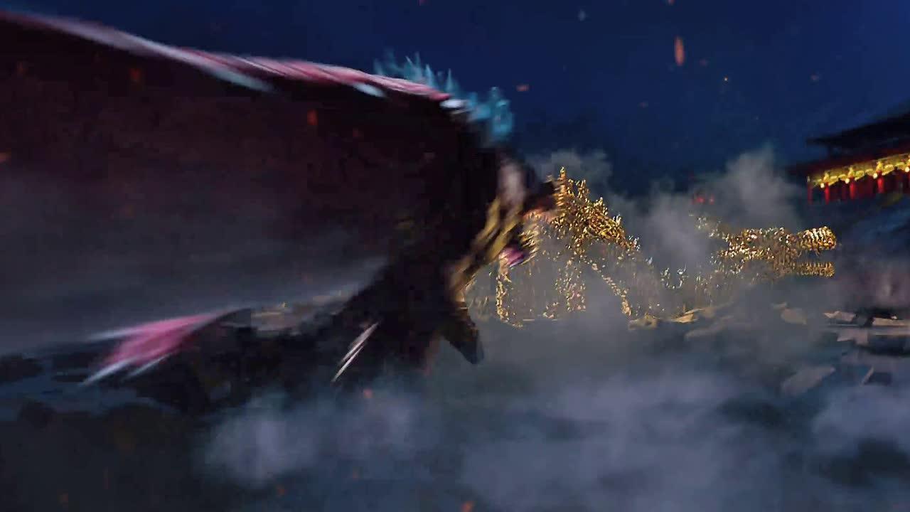 黑毒龙有上万年的修为,男子虽化身金龙,却怎么也打不过毒龙