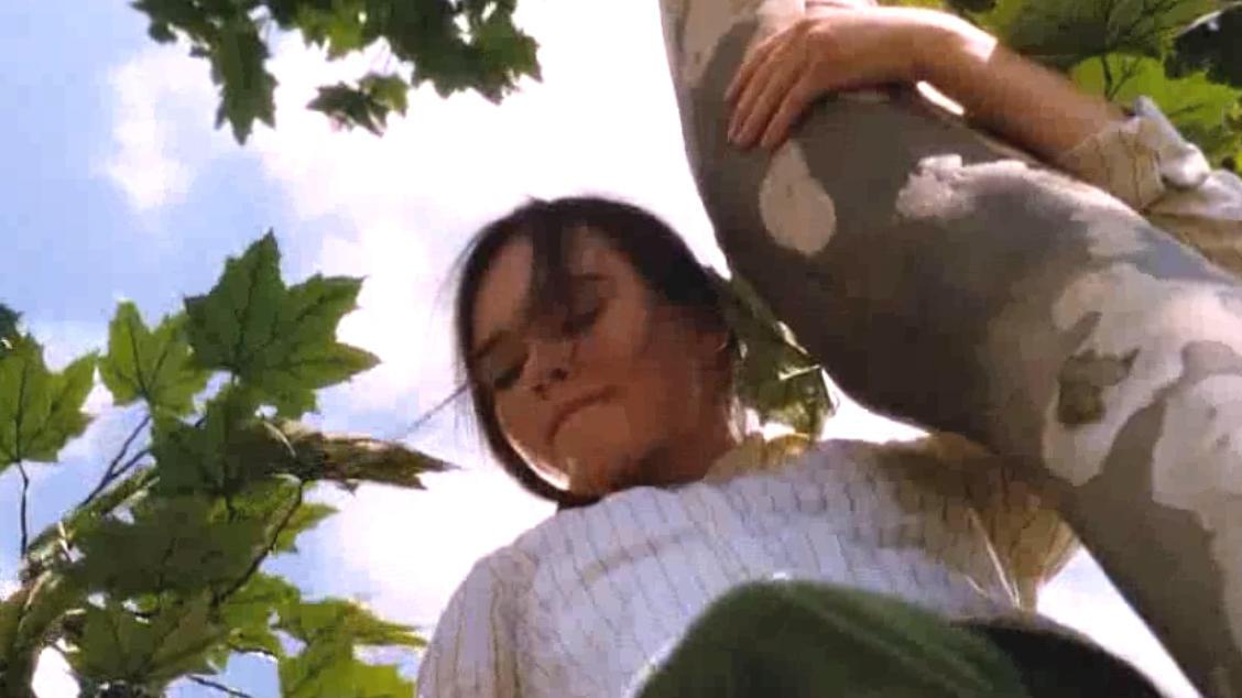 #经典看电影#女孩很喜欢爬树,给她种一棵树,就能打动她的心
