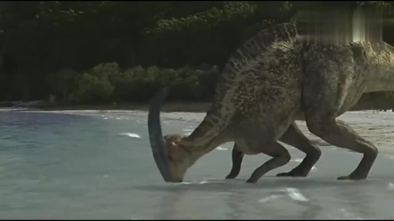 #经典看电影#史前恐鳄猎杀食草恐龙,如果是霸王龙?
