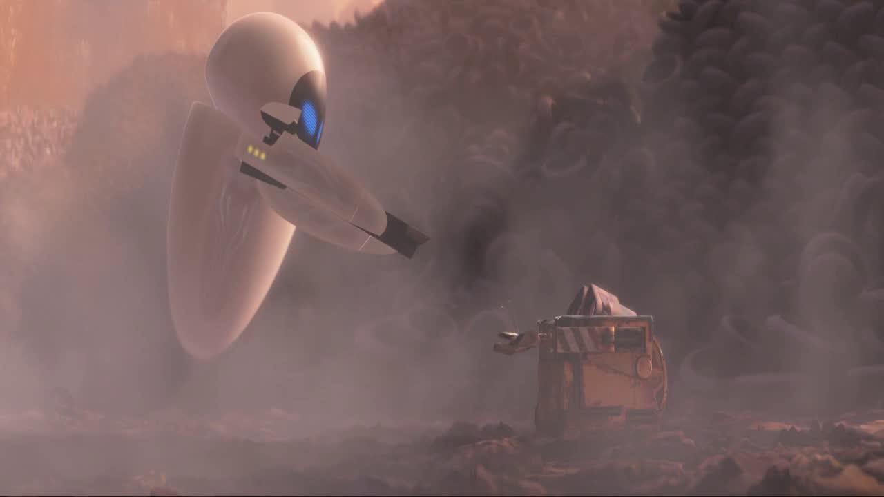 #电影片段#《机器人总动员》瓦力追求暴力白富美机器人伊娃