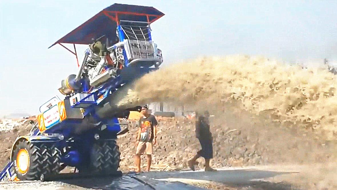 泰国威猛车载型抽水机,大功率、大流量,用来抽池塘相当给力