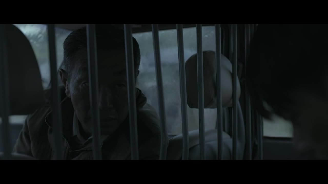 雨天中,男主与刑警队长共处一车,队长指出此案将水落石出