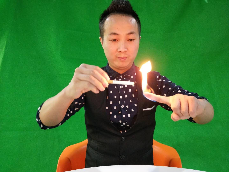 #魔术教学#手指冒火,居然还能点烟!方法特简单,速速收藏!