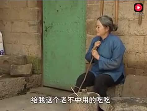 儿媳妇让婆婆吃猪食,心真毒!