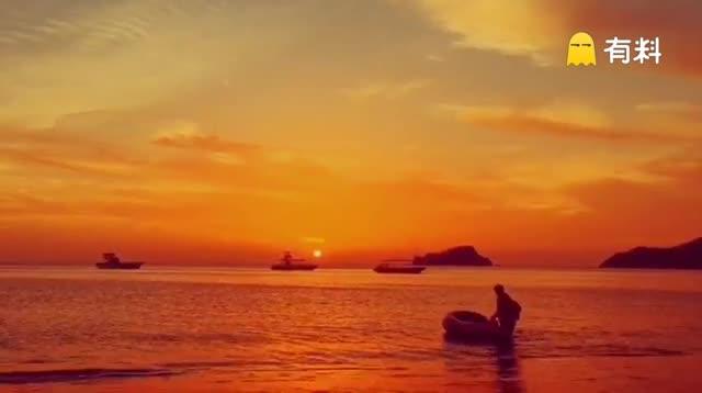 加勒比海的日落