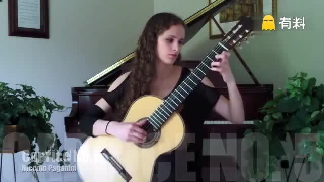 古典吉他美女独奏 帕格尼尼随想曲5号 就是这么美不解释