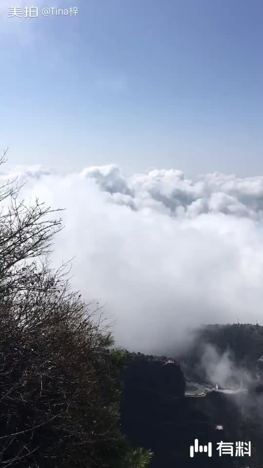 八台山山顶云海