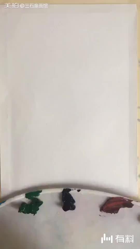 【水粉风景手绘】和我一起来画树吧