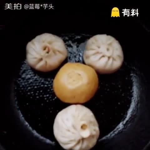 自制水煎包,玉米菜团子#美食##走哪吃哪#