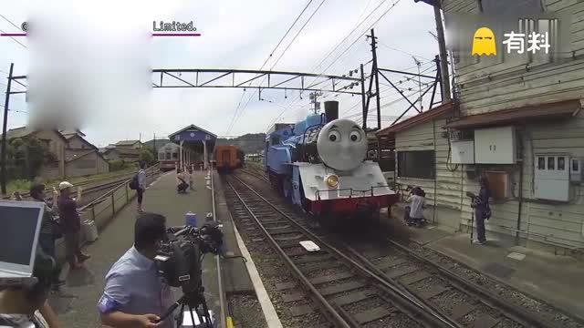 托马斯小火车降临日本 萌趣造型逗翻围观群众
