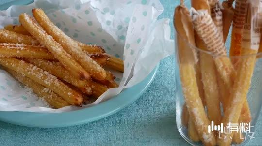 烘培西班牙小油条Churos,美味不黏牙的小甜点