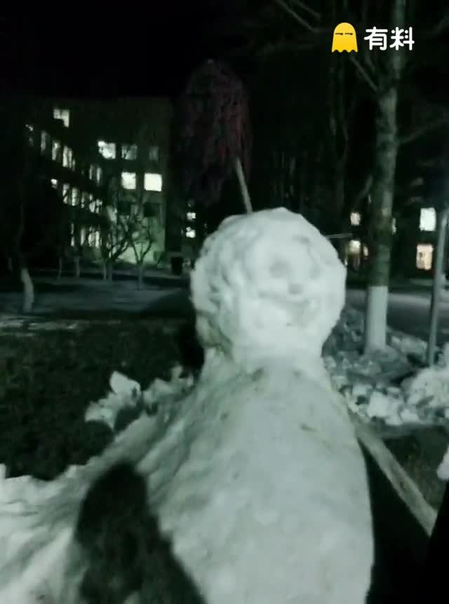 #30秒笑出眼泪#雪人
