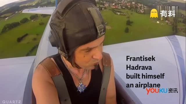 捷克男子自制木质飞机上下班 最高时速达146公里
