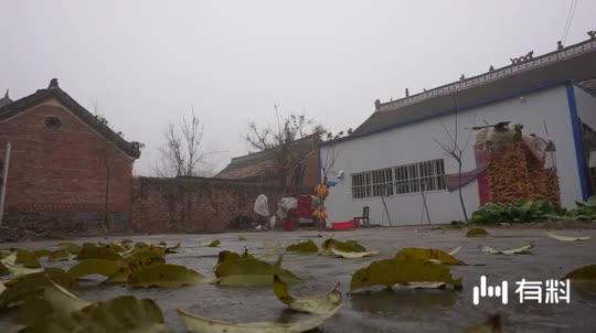 雨后村庄的宁静