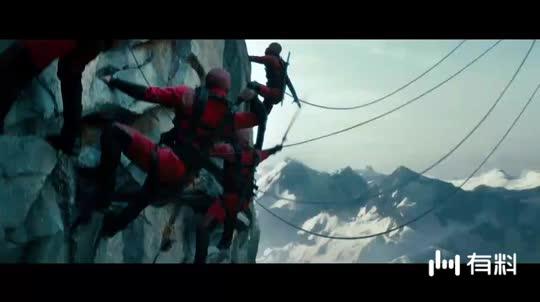 #电影片段#悬崖峭壁忍者大战 这段也太燃了吧!