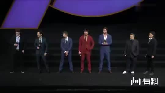 """《复仇者联盟4:终局之战》中国首映礼 """"蚁人""""保罗·路德:大家好,很高兴来到这里,我的中文不好,但是他们更烂,谢谢。"""