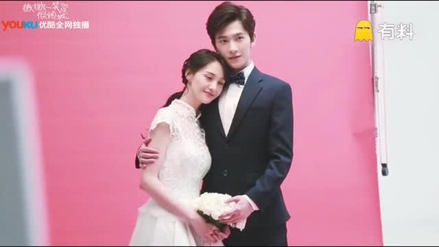 杨洋 郑爽 微微结婚海报花絮:简直甜炸了,来来来这碗狗粮我先干为尽。(使用#秒拍#录制)
