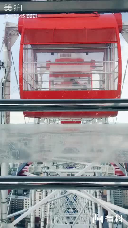 大阪港 天保山摩天轮和圣玛丽亚号帆船