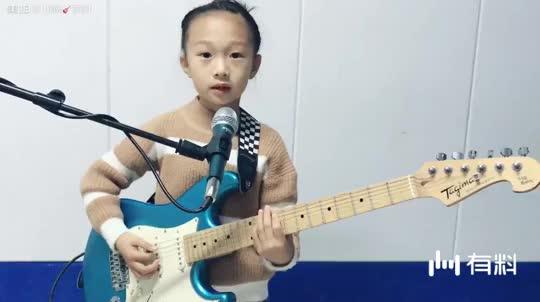【酒泉蓝调】唐瑾萱6岁半弹唱