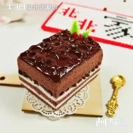 《巧克力蛋糕》这款拉花巧克力宝宝们喜欢吗