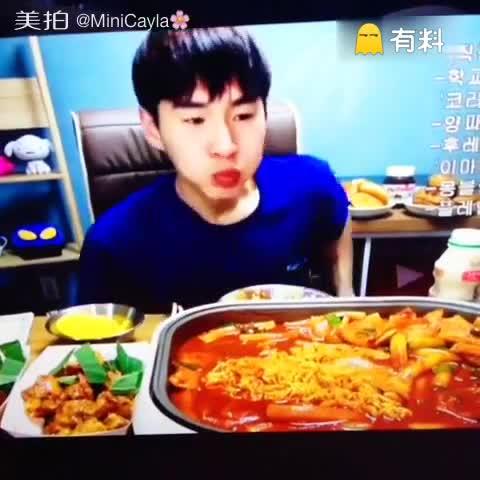 #韩国美食##韩国吃播##美食##...
