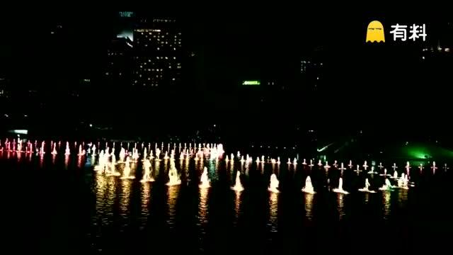 #泰坦尼克号音乐夜景喷泉#
