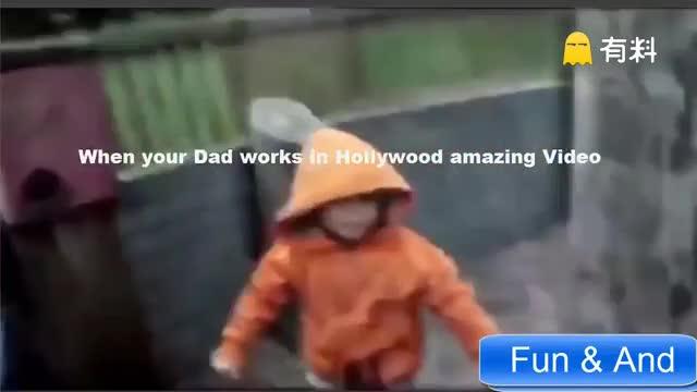 有一个在好莱坞工作的爸爸,宝宝的日常都能变成电影大片,真的厉害了!