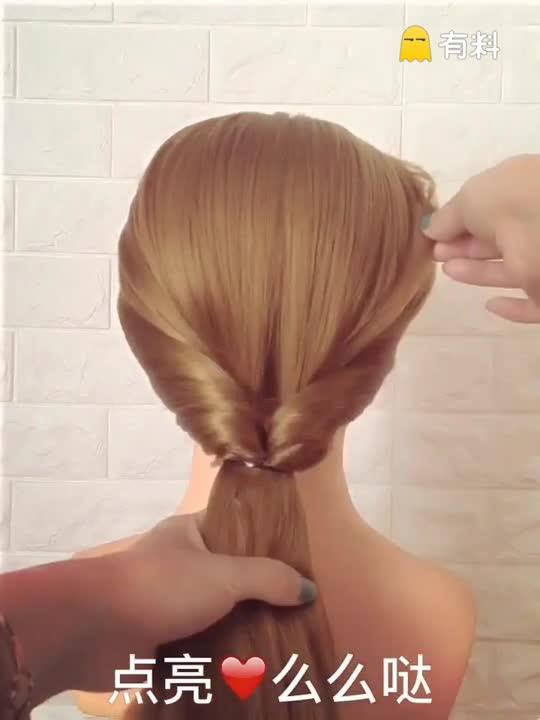 #我要上热门#这么简单的发型都学会了吗?学会的双击评论1没有学会的双击评论