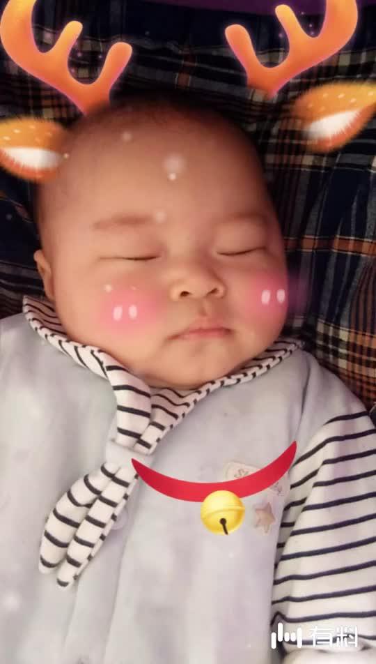 #终于睡觉了。宝贝好梦#20180314