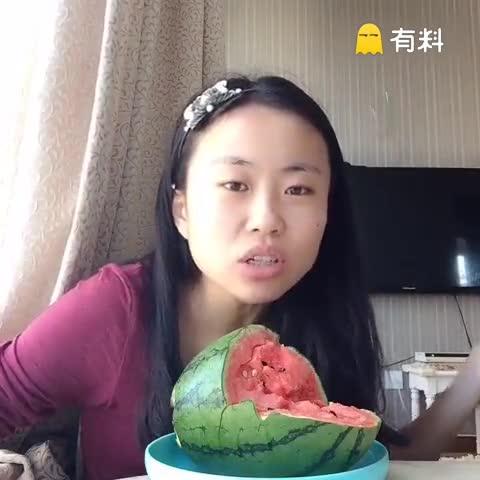 今天买了一个西瓜太郎西瓜