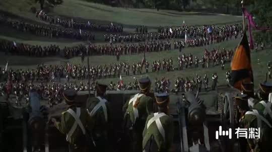 #电影片段#《战争与和平》:俄法两国交战,法国骑兵发起了冲锋!