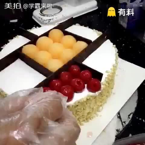 水果蛋糕#随手美拍##蛋糕##美...